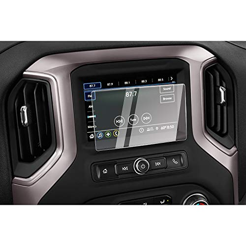 CDEFG for 2019 2020 2021 Silverado 1500 Infotainment 3 Car Touchscreen Navigation Touch Screen Protector, HD Clear Tempered Glass 9H Scratch Resistance (7IN)