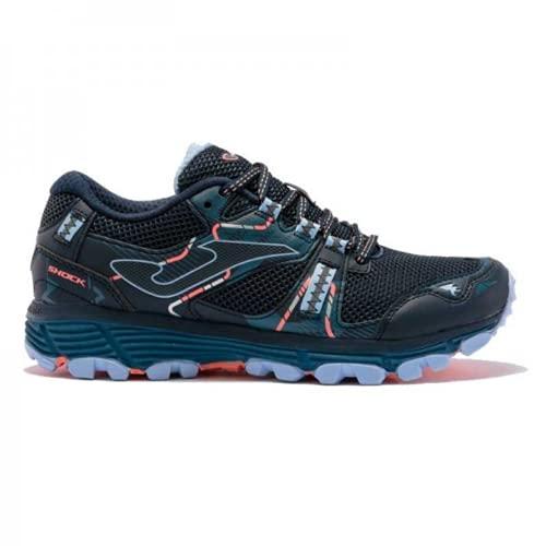 JOMA Shock Lady 2103 Navy Violet. Zapatillas Trail Running Mujer. Talla 37