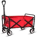 Inllex Collapsible Folding Wagon Utility Wagon Cart Outdoor Garden Camping Wagon Sports Wagon Heavy Duty