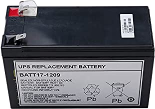 Worldwide Power Supply UPS Replacement Battery for APC UPS Models BE650G, BE750G, BR700G, RBC17 (BATT17-1209)