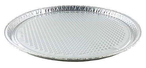 Handi-Foil 12' Aluminum Foil Pizza Pan - Disposable Waffle Bottom Baking Sheets (Pack of 100)
