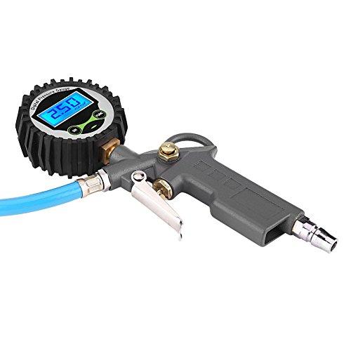 Accesorio para neumáticos, tipo pistola, gatillo, 0-220 psi, 0-16 bar, indicador de presión para inflador de neumáticos, indicador de inflado de neumáticos, para camión, motocicleta, coche,