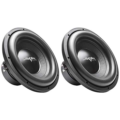(2) Skar Audio SDR-12 D2 12' 1200W Max Power Dual 2 Ohm Car Subwoofers, Pair of 2