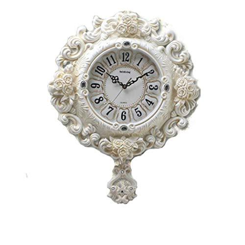 Reloj de pared digital / Relojes de pared Reloj reloj retro europeo que no hace tictac susurro silencioso reloj de pared arte columpio reloj de cuarzo decoración dormitorio reloj de bolsillo silencios