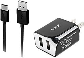 Micro USB cargadores para Motorola Moto G5S Plus, G5S, E4Plus, E4, Moto C, C Plus, G5, G (5a generación), G5Plus, E3Power (Negro)–2.1Ah cargador de coche + adaptador de cargador de casa + cable de carga USB, 3-Black-2in1TC