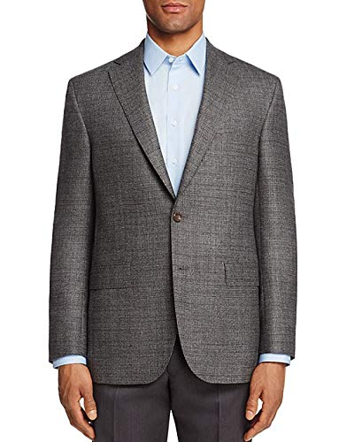 uxcell Men's Casual Sports Coat Slim Fit Lightweight Button Cardigan Knit Blazer with Pockets Dark Gray 38