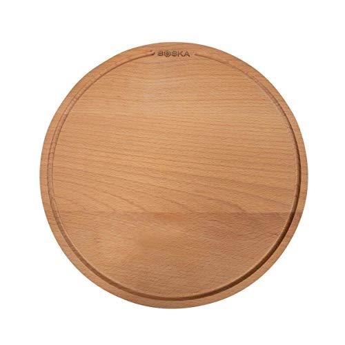 Amigo - Tabla para pizza (diámetro: 34 cm, madera de haya, con...