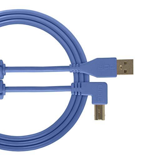 UDG Cable USB 2.0 (A-B) ángulo azul claro 1 m – Audio opt
