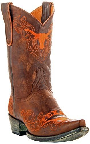 Gameday Boots NCAA Ladies 10 inch University Boot Texas Longhorns, 9.5 B (M) US, Brass