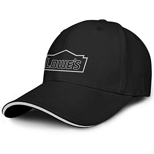 BOIN Lowes-Gray Line Snapback Baseball Cap Popular Adjustable Fits Travel Hat for Unisex