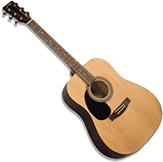 Johnson Lefty Acoustic Guitar Dreadnought Six String Left Handed