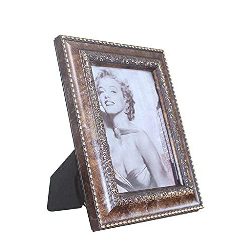 Marco De Fotos De 8 Pulgadas, Retro Roman Texture Home Picture Frames, Arte Desktop Photo Mark Hecho A Mano 5/6/8 Pulgadas Marco De Fotos (Color : A, tamaño : 3.5×5')