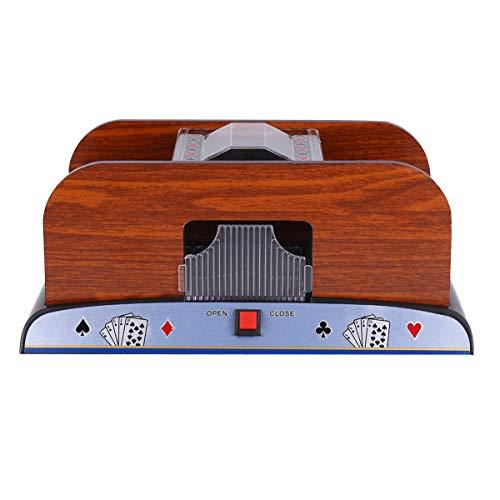 CLISPEED 2 Deck Card Shuffler Electronic Shuffler Machine Automatic Poker Shuffler Portable Casino Card Shuffler Playing Card Supplies Without Battery