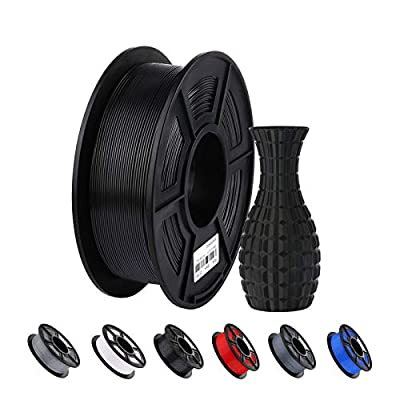 ANYCUBIC 3D Printer PLA Filament,1.75mm Dimensional Accuracy +/- 0.02 mm 1kg Spool PLA Filament for Most 3D Printers (Black)