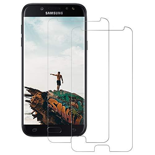 DASFOND [2 Stück Schutzfolie Panzerglas für Samsung Galaxy J5 2017 Displayschutz, HD Displayschutzfolie, 9H Härte,Anti-Kratzer/Bläschen/Fingerabdruck/Staub Panzerglasfolie für Samsung J5 2017