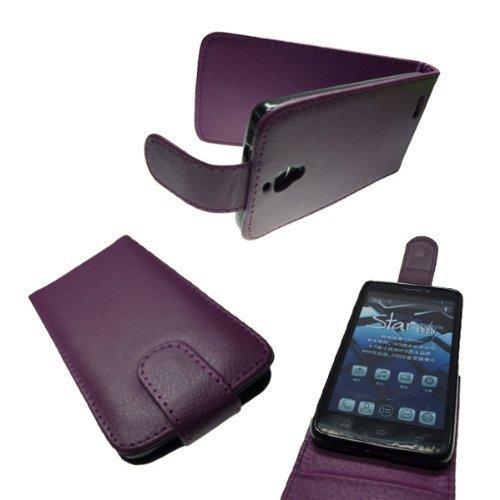 caseroxx Flip Cover für Alcatel One Touch Idol 6030D, Tasche (Flip Cover in lila)