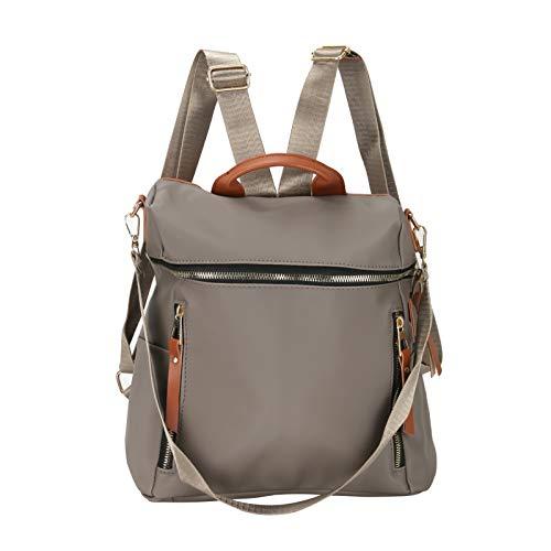 Backpack 30 * 25 * 15CM Adjustable Strap Lightweight Waterproof Zipper Backpack For Ladies (Gray)