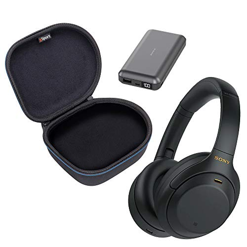 Sony WH-1000XM4 Wireless Noise Cancelling Over-Ear Headphone Bundle with gSport...