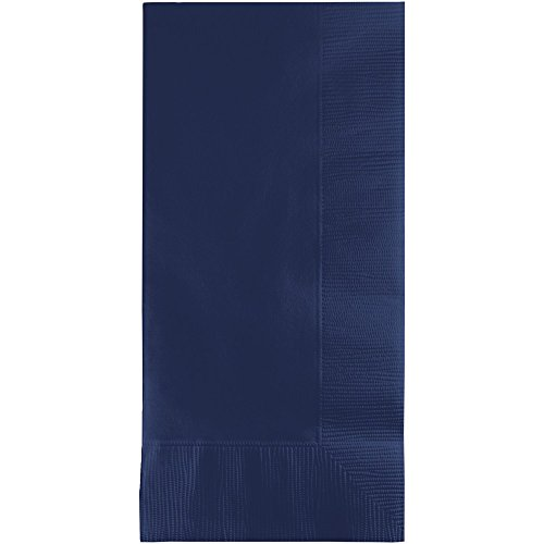 Creative Converting Pack 50 Gorgeous Navy Blue Dinner Napkins for Wedding, Party, Bridal or Baby Shower, Disposable Bulk Supply Quality Product