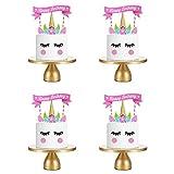 Decoración para Tarta de Unicornio, Juego de Decoración para Tarta de Feliz Cumpleaños, Decoración para Cupcakes con Tema de Unicornio Rosa para Niñas, Niños, Cumpleaños, Fiesta, Aniversario, Boda