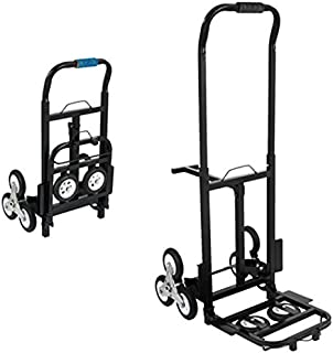 BestEquip Portable 330 LBS Capacity Stair Climbing Cart 30 Inch Folded Height Stair Climber Hand Truck with Three-Wheel Chassis and Two Spare Wheels for Easy Climbing