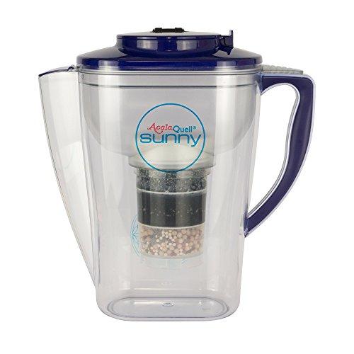 Wasserfilter AcalaQuell Sunny | Dunkelblau | Aktivkohle Wasserfilter | Höchste Filterleistung - mehrschichtig | BPA u. BPB frei | ReNaWa® - Technology | Kreiert köstliches, wohltuendes Wasser