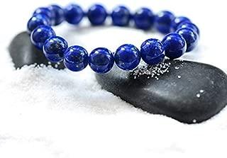 Handmade Lapis Lazuli Bracelet - Gemstone Bracelet - Bead Stretch Bracelet - Friendship Bracelet - Blue Stone Focus Bracelet (8mm)