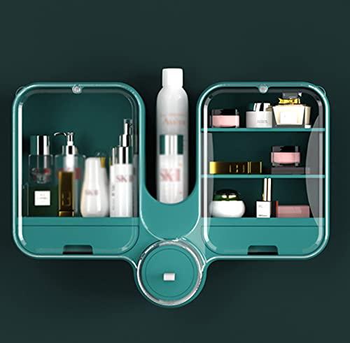 Caja De Almacenamiento De Cosméticos Montada En La Pared, Joyero De Productos para El Cuidado De La Piel No Poroso a Prueba De Polvo, Estante De Baño