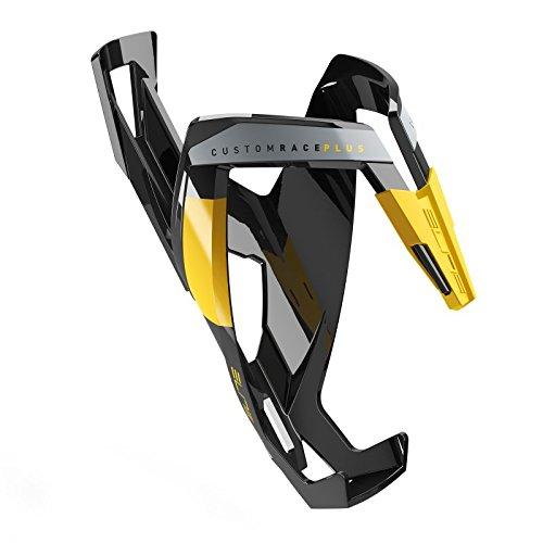 Elite Custom Race Plus - fiets bidonhouder zwart/geel, glanzend