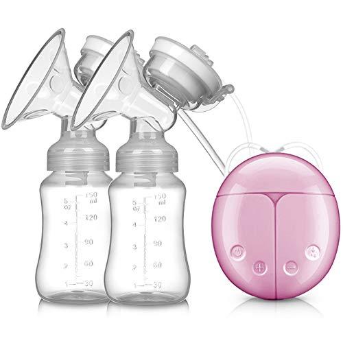 Bomba Tira Leite Materno Dupla Elétrica Bubee Rosa
