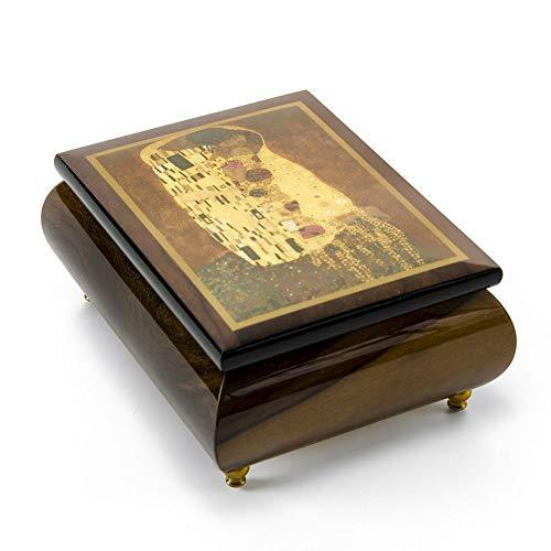 MusicBoxAttic Caja de música Ercolano con diseño de Pareja romántica Abstracta, más de 400 Opciones de Canciones, Madera, 159. Here Comes The Sun