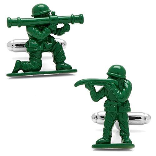 Rétro Officiel Green Army Conception Boutons de Manchette Toy Soldier - Boxed