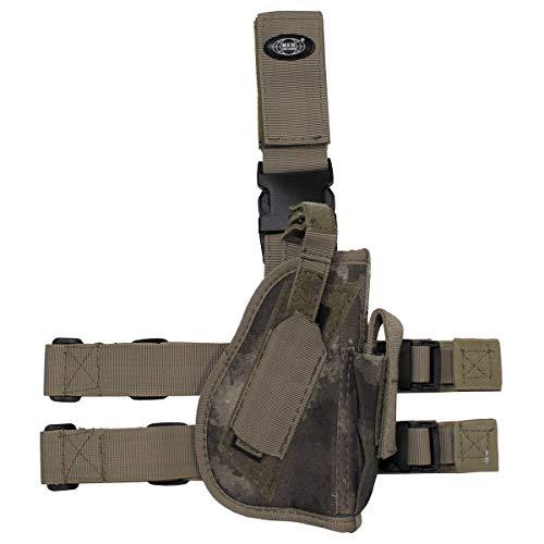 MFH Pistolet Leg Holster 30725A Fixation de Jambe et de Ceinture Droite (HDT-Camo)