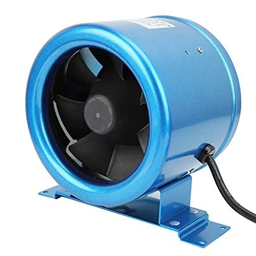 Hbao Ventilador de Escape de ventilación silencioso de 6 Pulgadas Control de Velocidad Ajustable Ventilador de Aire Tubo Extractor de Ventilador de conducto para jardín Cocina Inodoro