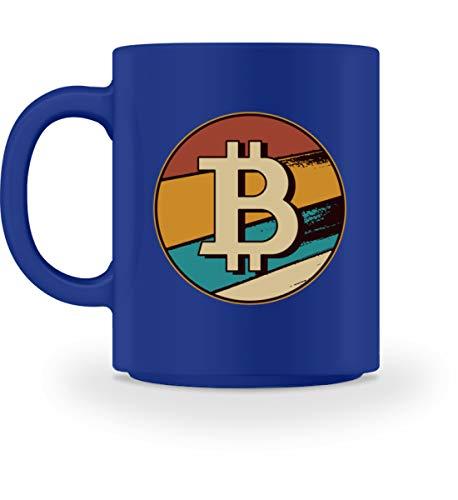 Enomis Bitcoin Münze Krypto Münzen - Tasse -M-Royal Blau