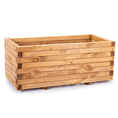 Wooden Planter - 3 Sizes - Raised Bed for Garden, Patio and Balcony