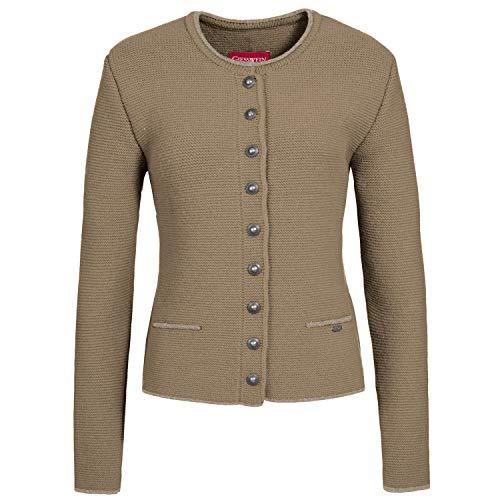 GIESSWEIN Jacke Jetta - leichte Strickjacke aus 100% Lammwolle, Elegante Trachten Jacke für Damen, weiche Strick Jacke für Damen