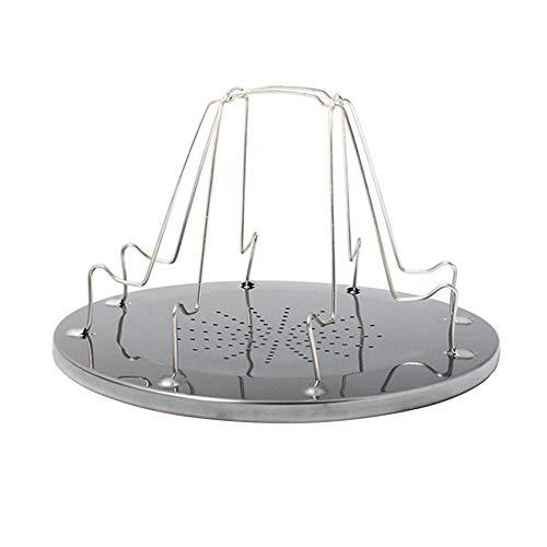 Peanutaso Estante de Tostado portátil Simple de Acero Inoxidable Tostadora para Acampar al Aire Libre Parrilla portátil Plegable Parrilla de Estufa Multiusos