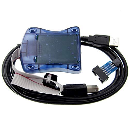 morismoon kompatibel mit Atmel avrisp MKII USB AVR ISP MK2avrisp xpii in-system Programmierer für AVR Studio & 5& 7mit Adapter