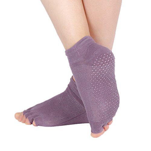 Bigood Damen Socken, Einfarbig One size Gr. One size, violett