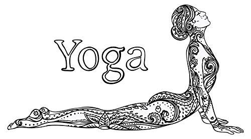 dekodino® Wandtattoo Indien Yoga Figur Ornamente Muster Wandsticker Deko