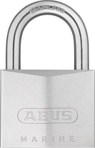 ABUS Marine Vorhängeschloss 75IB/50 - wetterfest - Messing-Schlosskörper mit Nickel Pearl Beschichtung - ABUS-Sicherheitslevel 7 - Silber
