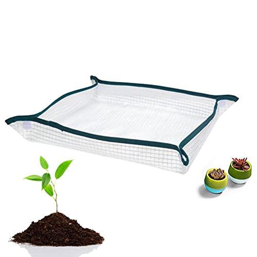 Huixindd Cojín de Flor de Malla Transparente Impermeable y Reutilizable portátil para jardinería en Maceta