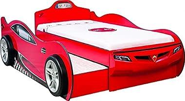 Lit superposé pour Enfants Coupe Rouge-190 x 90 cm