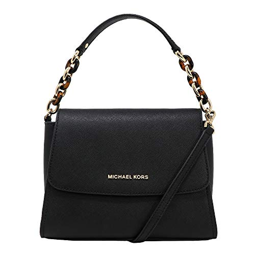 Michael Kors Sofia Portia kleine oost-west Satchel Crossbody tas in zwart