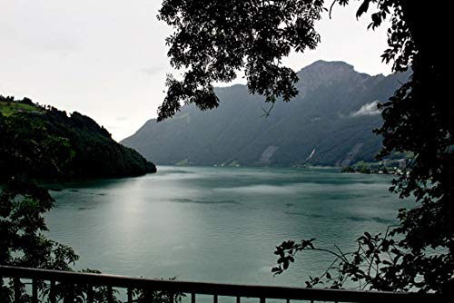 Wall Art Print on Canvas(32x21 inches)- Italy Lake Maggiore Landscape
