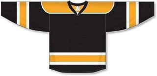 Black, Gold, White Select Plain Blank Hockey Jerseys