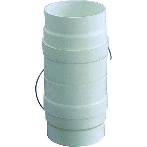Aspiratore D/100-120 per Aerazione Canalizzata Cappa Cucina in Pvc colore Bianco