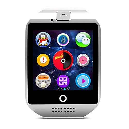 UIEMMY Reloj Inteligente con cámara Q18 Bluetooth Smartwatch Ranura para Tarjeta SIM TF Rastreador de Actividad física Reloj Deportivo Relojes Android