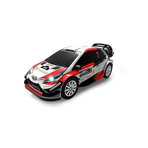 WRC- Toyota Yaris Coche para circuitos Slot Luces led, Color único (91202)